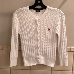 New Ralph Lauren cable knit pearl stitch cardigan